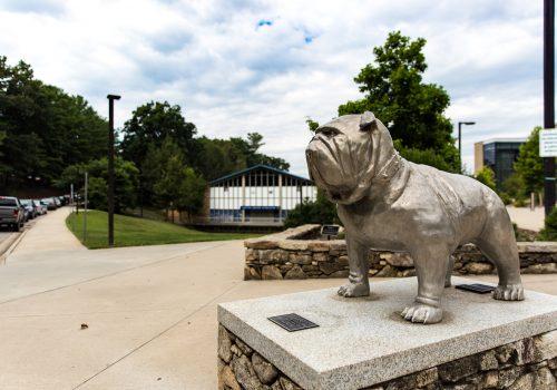 Rocky the Bulldog statue